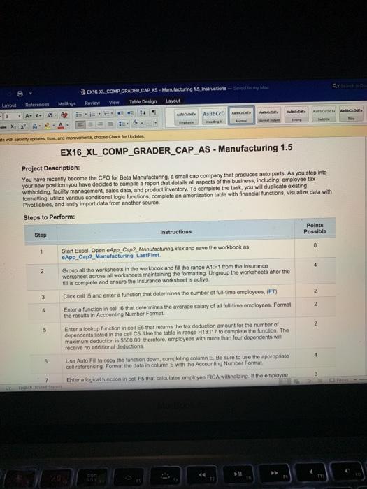 Ex16_xl_comp_grader_cap_as - Manufacturing 1 5 Loo