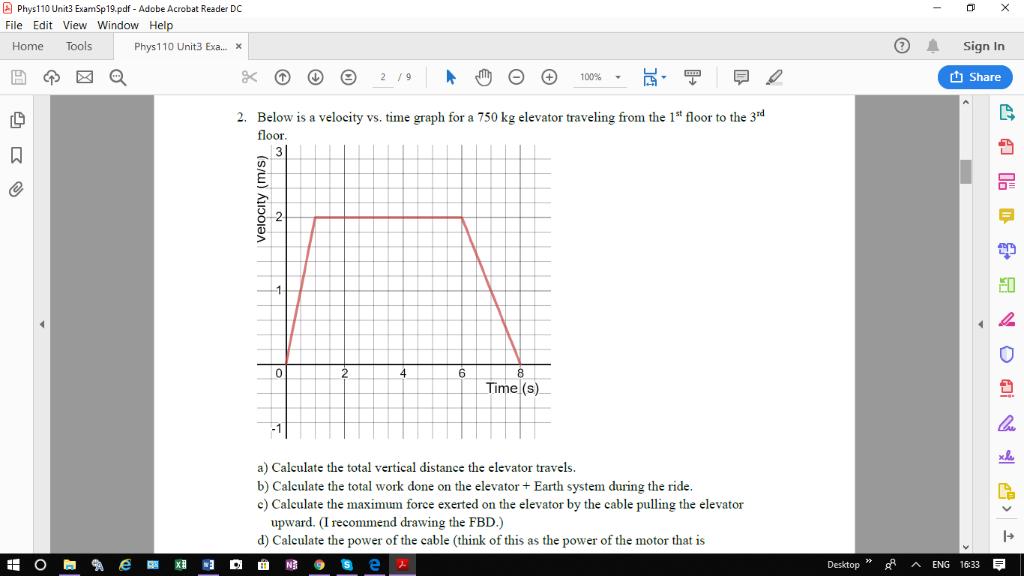 Solved: Phys110 Unit3 ExamSp19 pdf - Adobe Acrobat Reader