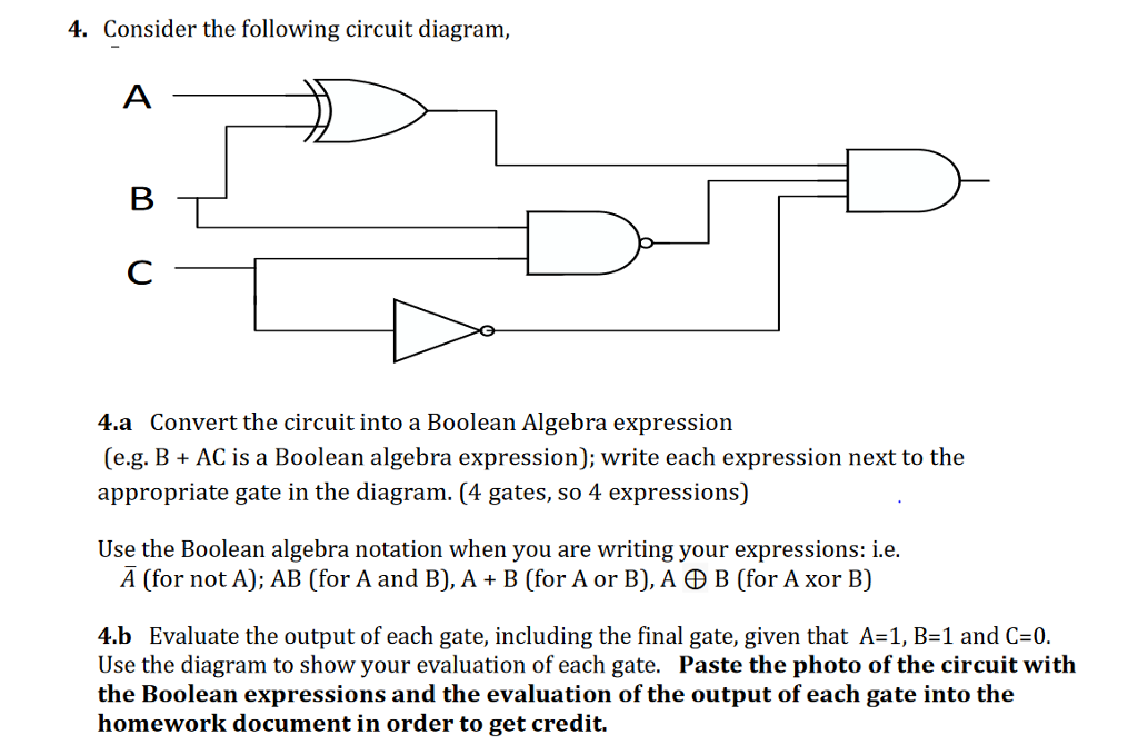 Solved  4  Consider The Following Circuit Diagram  4 A Con