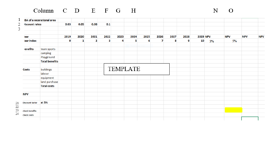 NOTE: You Will Need To Layout Your Excel Worksheet... | Chegg.com