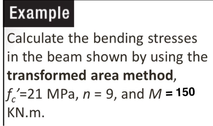 Solved: Example Calculate The Bending Stresses In The Beam
