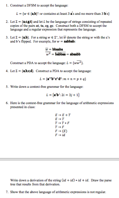 Solved: 1  Construct A DFSM To Accept The Language: L {w