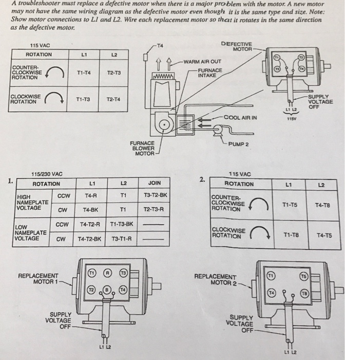 Wire Diagram Motor Name Plate