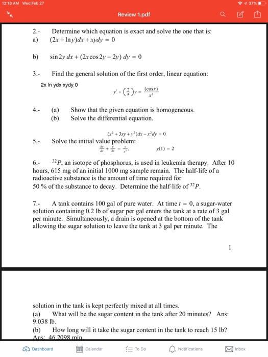 Solved: 12:18 AM Wed Feb 27 Review 1 pdf 2 Determine Which
