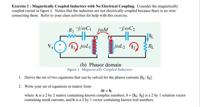 Solved: Exercise 1 : Magnetically Coupled Inductors With N ...