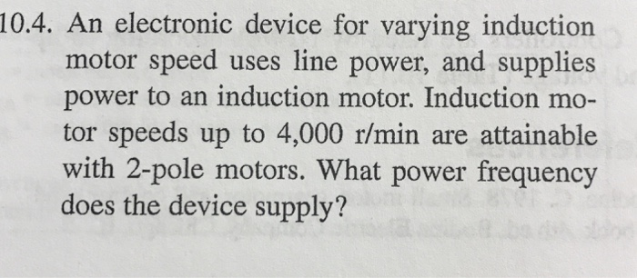 An Electronic Device For Varying Induction Motor Sd Uses Line And Supplies