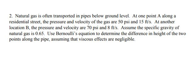 Solved: 2  Natural Gas Is Often Transported In Pipes Below