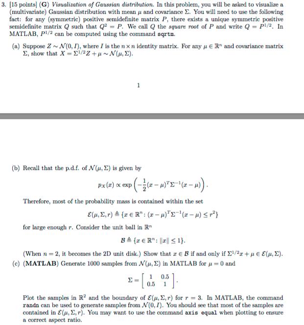 3  15 Points (G) Visualization Of Gaussian Distrib