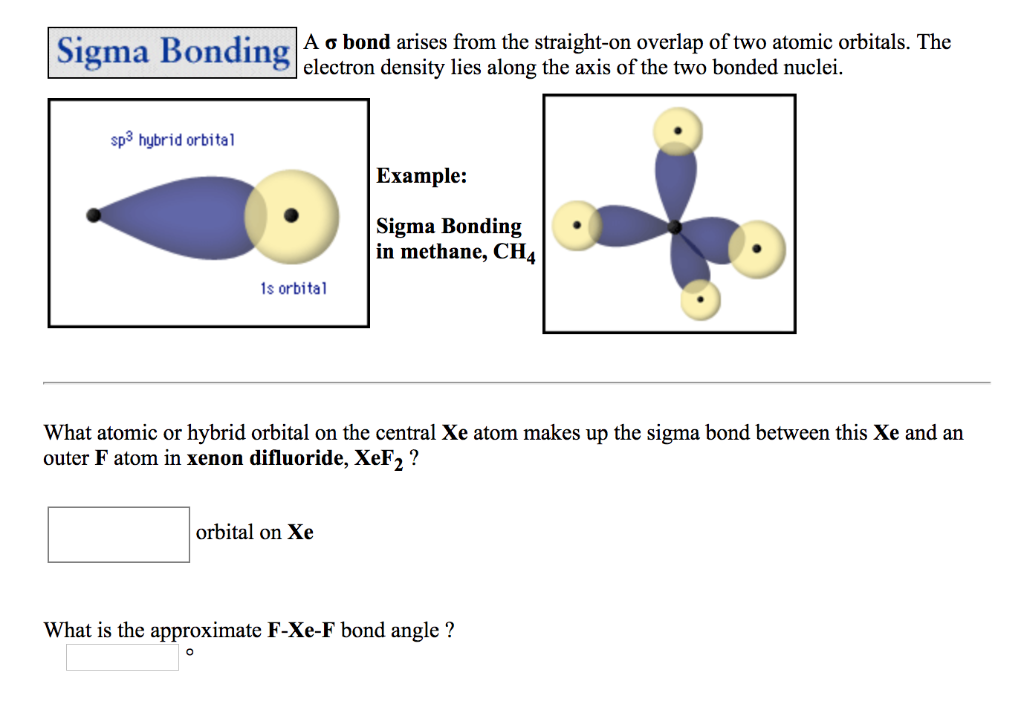 Solved: A σ Bond Arises From The Straight-on Overlap Of Tw ...Xef2 Hybridization Of Central Atom