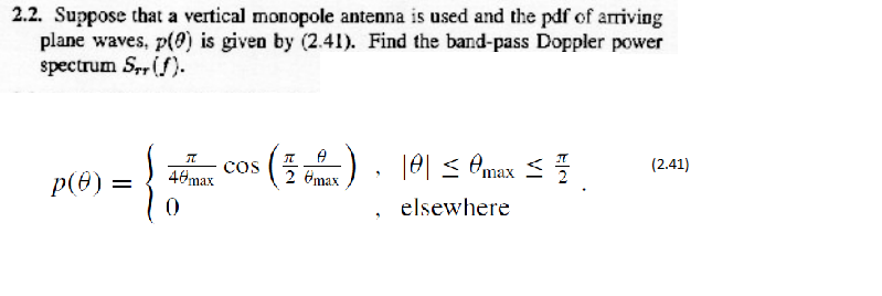 2 2  Suppose That A Vertical Monopole Antenna Is U