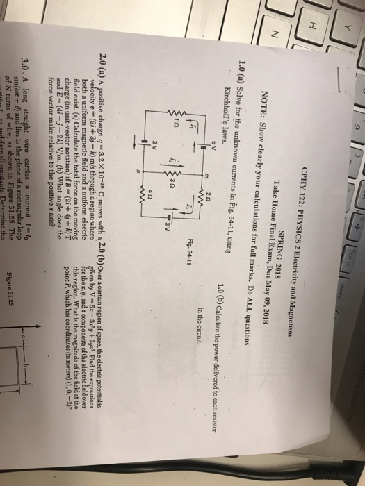 Solved: 9 CPHY 122: PHYSICS 2 Electricity And Magnetism SP