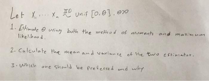Solved: And Mai'u Likelihoo D 2  Calculate The Mean And Aa