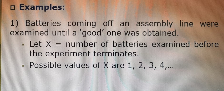 solved o examples 1 batteries coming off an assembly li