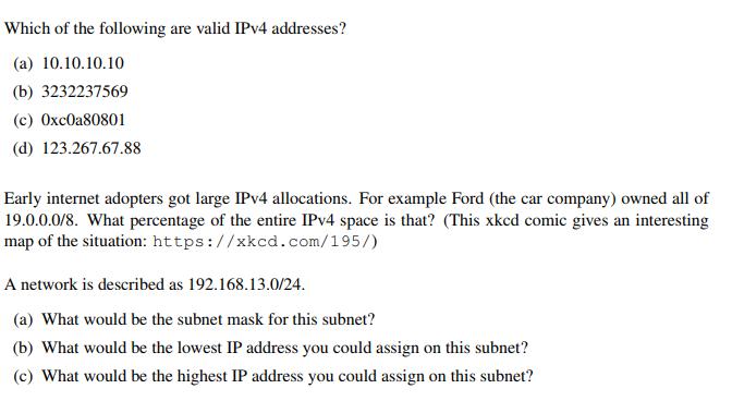 valid ip4 address