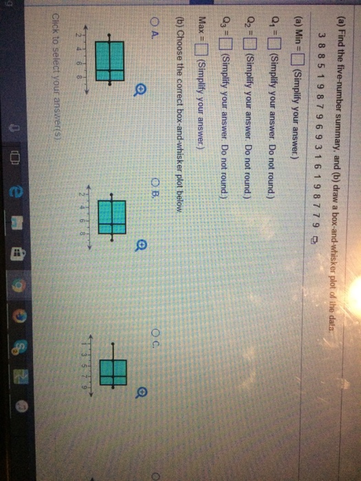 Statistics and probability archive february 15 2017 chegg a find the five number summary and b draw a fandeluxe Gallery