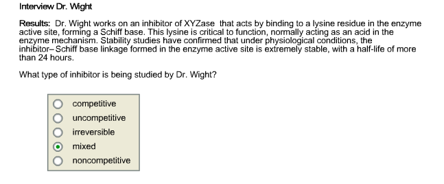 Solved: Interview Dr  Wght Results: Dr  Wight Works On An