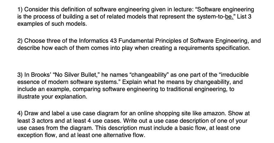 Solved: 1) Consider This Definition Of Software Engineerin ...