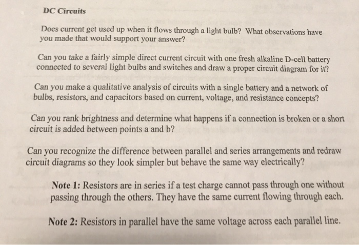 dc circuits does current get used up when it flows through a light bulb?  what