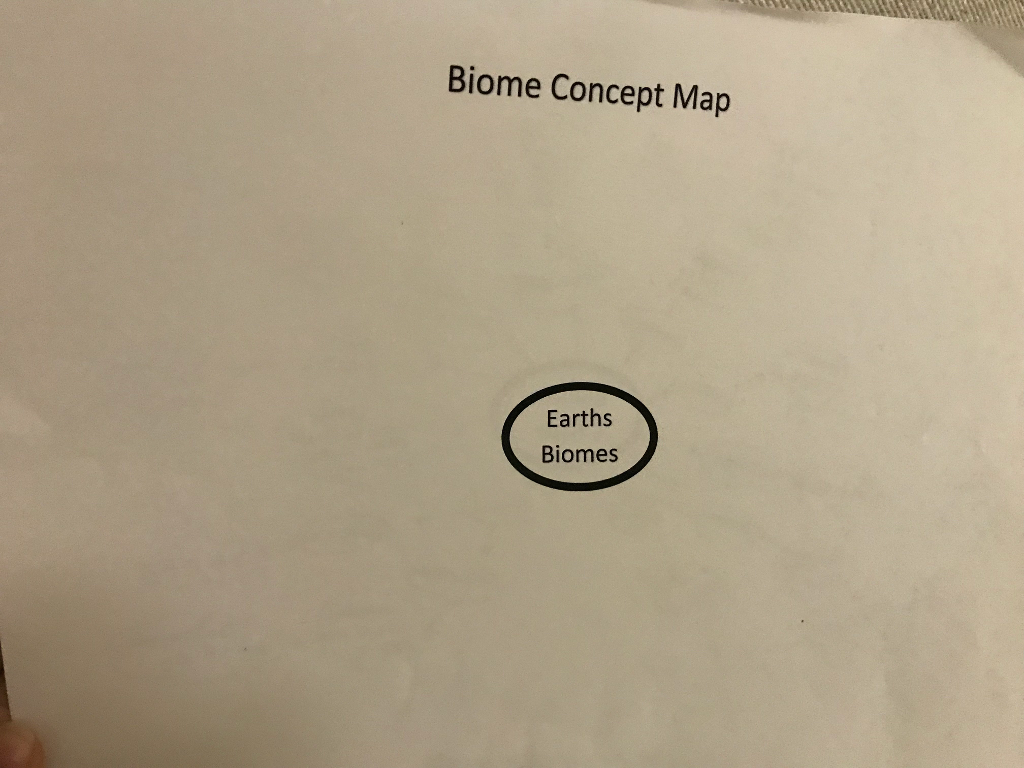 Solved Biome Concept Map Earths Biomes Chegg Com