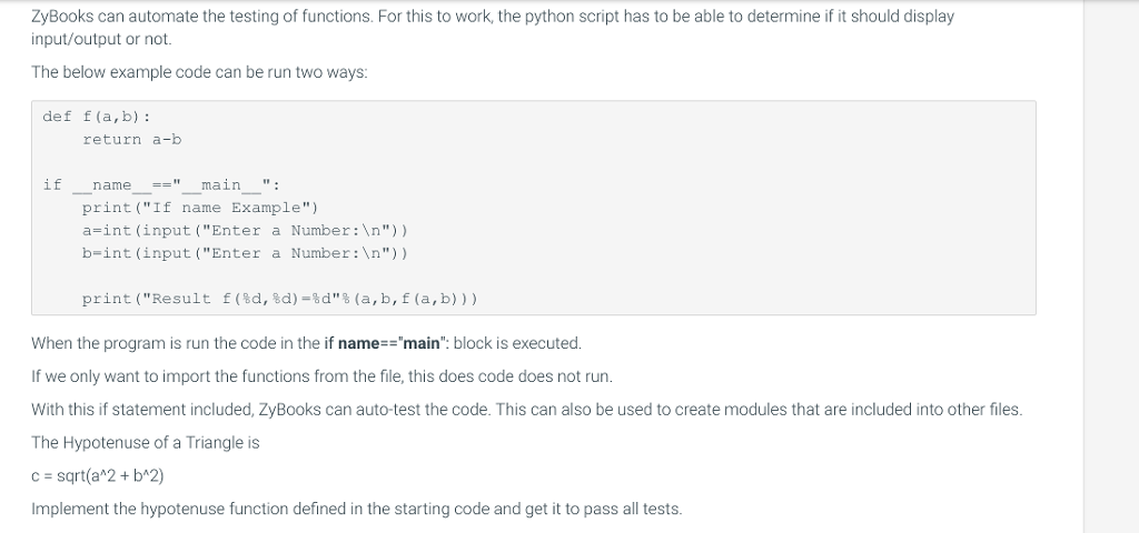 Solved: ZyBooks Can Automate The Testing Of Functions  For