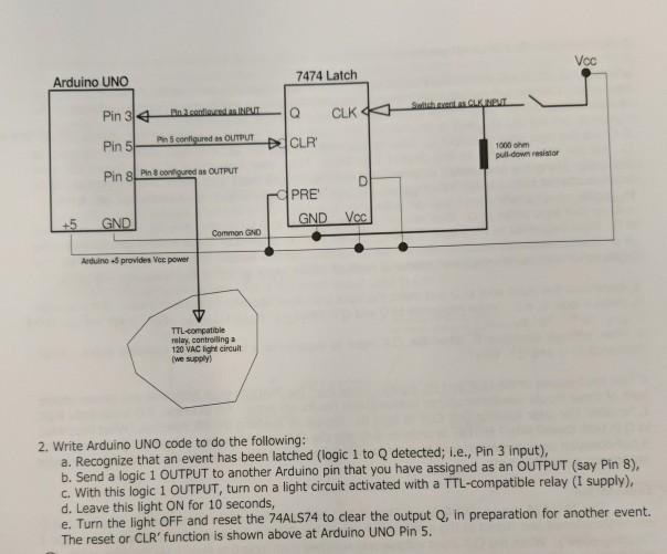 Vcc 7474 Latch Arduino UNO Q CLK CLR 1000 Ahm Pull ...  Pin Volt Relay Wiring Diagram on 8 pin ice cube relay wiring diagram, 8 pin relay pinout diagram, 8 pin relay socket diagram,