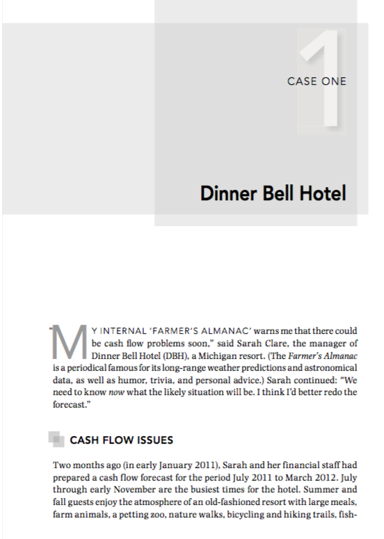 CASE ONE Dinner Bell Hotel Y INTERNAL 'FARMER'S AL