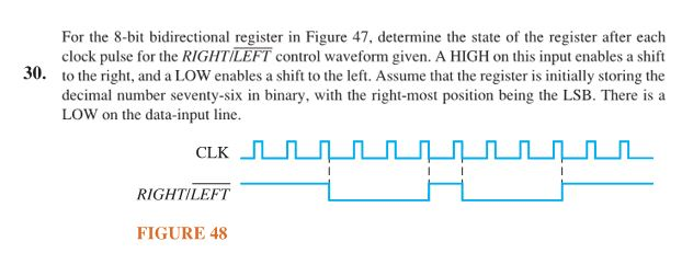 Solved For The 8 Bit Bidirectional Register In Figure 47 Chegg Com
