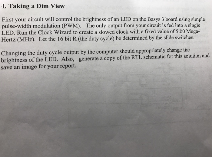 Solved: I  Taking A Dim View First Your Circuit Will Contr