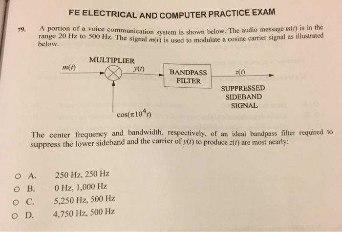Solved: FE ELECTRICAL AND COMPUTER PRACTICE EXAM A Portion