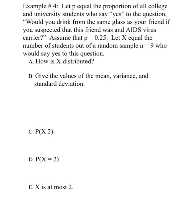 Solved Example 4 Let P Equal The Proportion Of All Col
