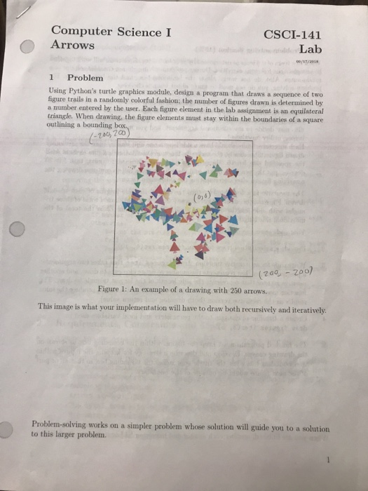 Solved: Computer Science I CSCI-141 Lab ( Arrows 1 Problen