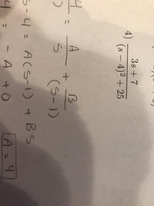 3s 7 (s - 4)2 25 4) 9 (S-)