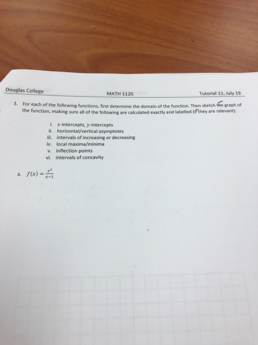 Solved: ouglas college math 1120 tutorial 7, june 21 [from.