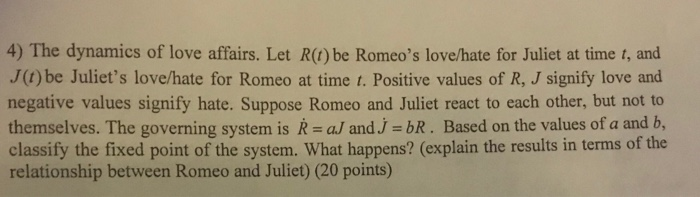 romeo and juliet values