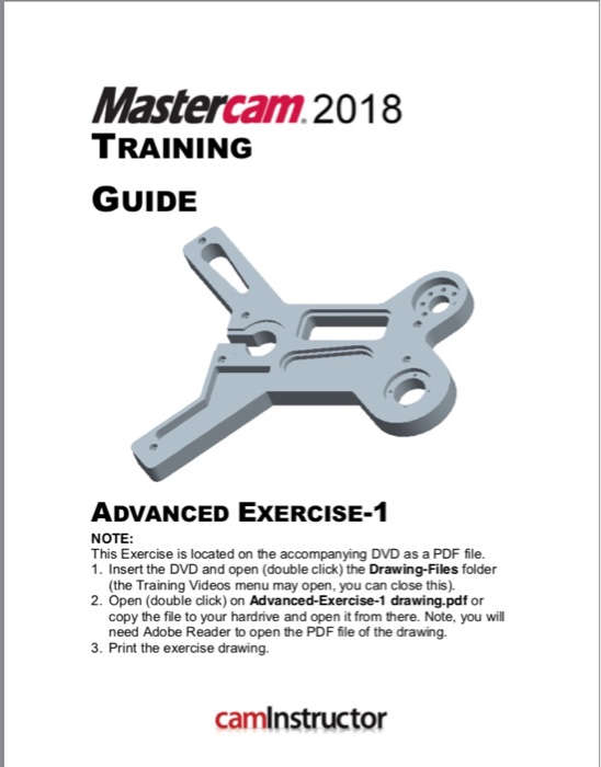 Mastercam 2018 TRAINING GUIDE ADVANCED EXERCISE- N