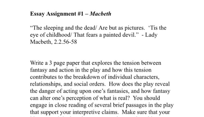 essay assignment  macbeth the sleeping and the d  cheggcom essay assignment  macbeth the sleeping and the dead are but as pictures