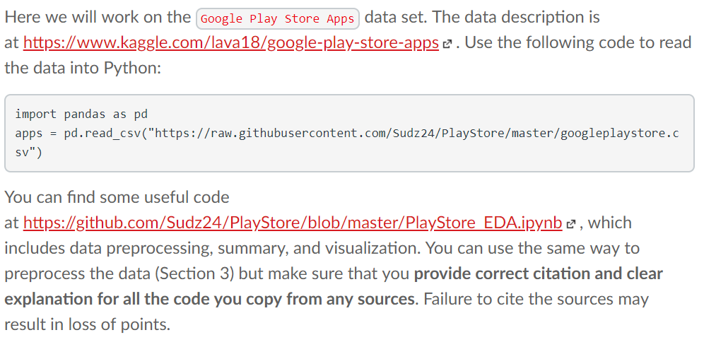 Here We Will Work On The (Google Play Store Apps D    | Chegg com