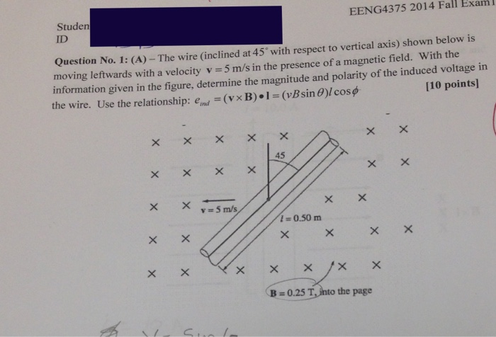 Solved: EENG4375 2014 Fall Exam Studen ID Question No. 1 ...