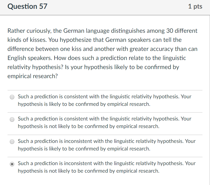 Solved Question 57 1 Pts Rather Curiously The German Lan Chegg Com