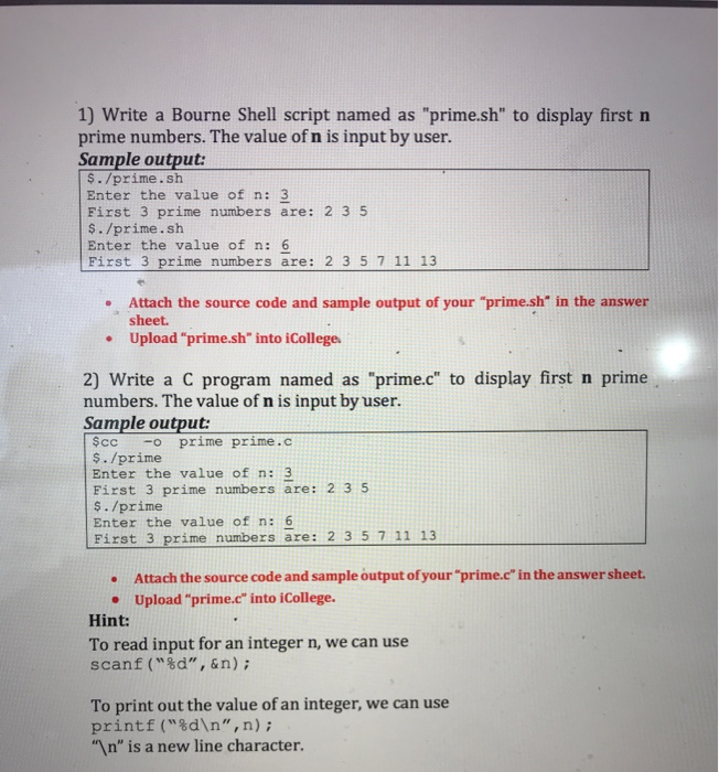 Solved: 1) Write A Bourne Shell Script Named As