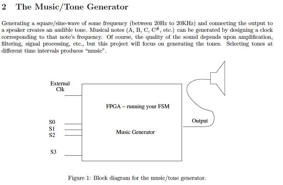 2 The Music/Tone Generator Generating A Square/sin