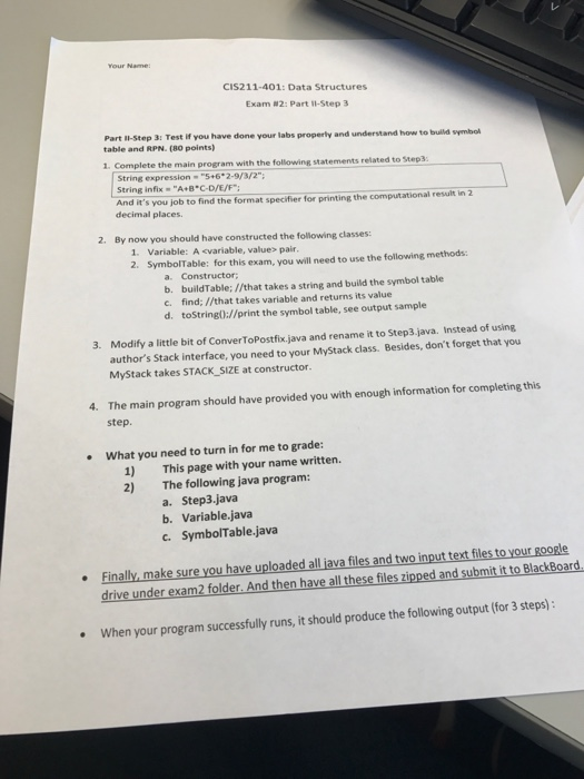 Please Help There Should Be Total 3 Class 1 Step Chegg