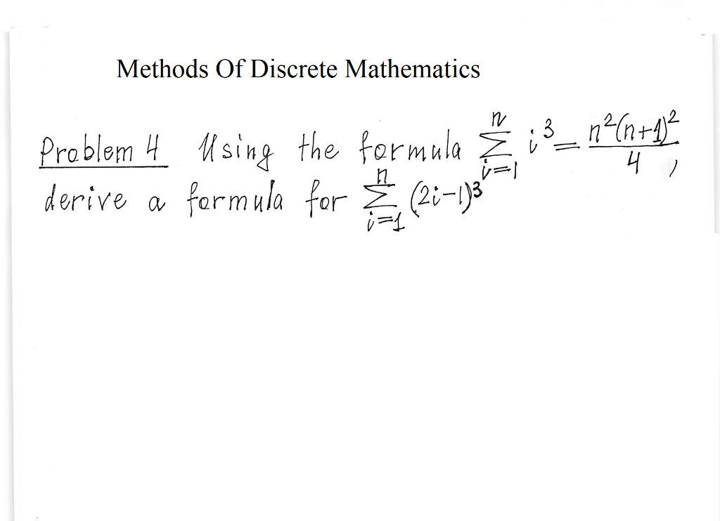 Solved: Methods Of Discrete Mathematics ProblmHUsing The F