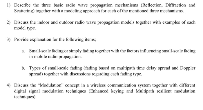 Solved: 1) Describe The Three Basic Radio Wave Propagation