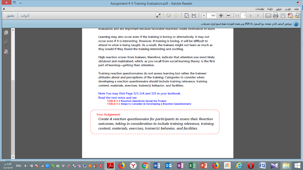 Solved: Assignment # 4 Training Evaluation pdf  Adobe Read