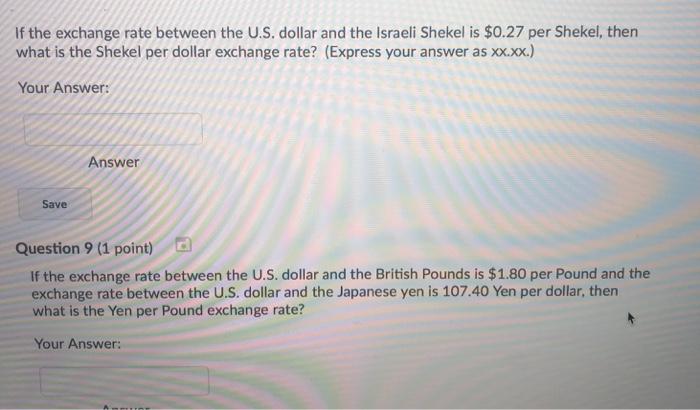 Exchange Rate Between The U S Dollar