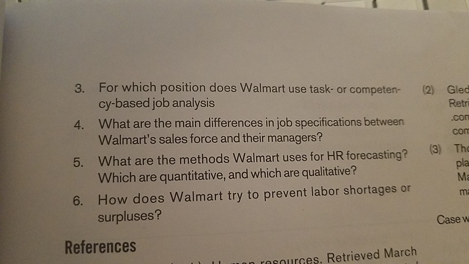 For Which Position Does Walmart Use Task Or Competen 2