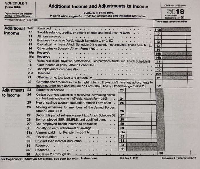 Solved: Page 2 Form 1040 (2018) 1 Wages, Salaries, Tipe, E