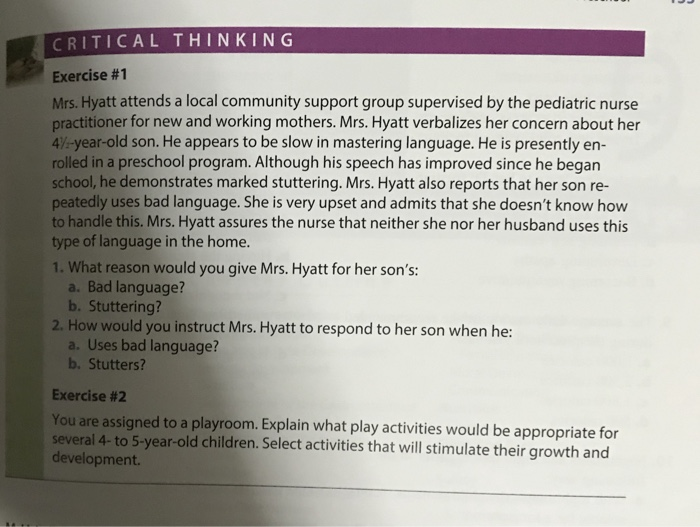 critical thinking nursing questions