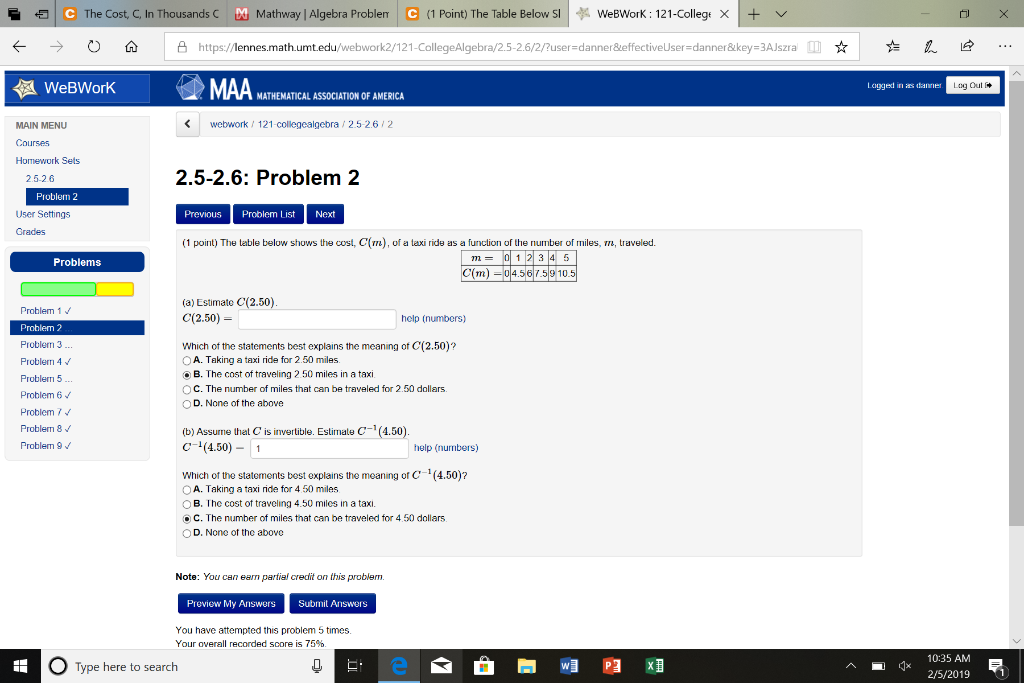 Solved: € | The Cost, C, In Thousands C Ш Mathway | Algebr ... on